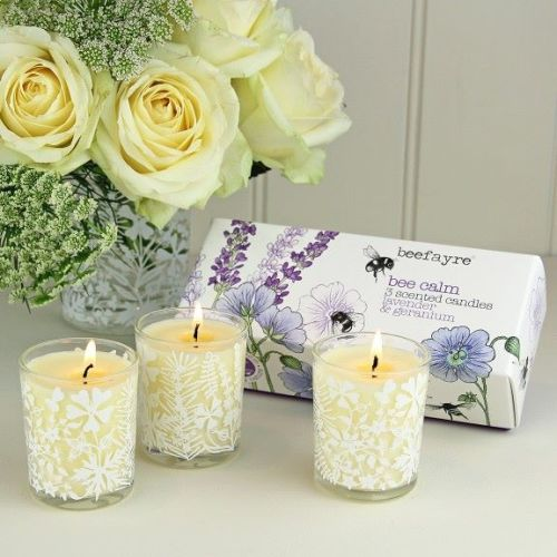 Bee Calm Lavender & Geranium Candle Set