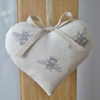 Bumblebee Print Hanging Heart