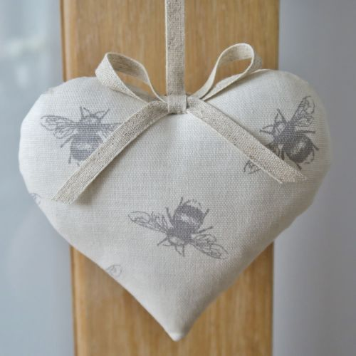 Bee Print Hanging Heart