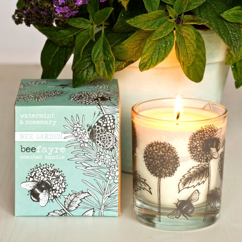 Beefayre Watermint & Rosemary Candle