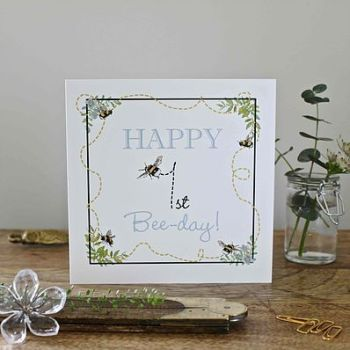 Happy 1st Bee-Day Card