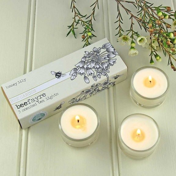 Honey Lily Beefayre Tea Lights