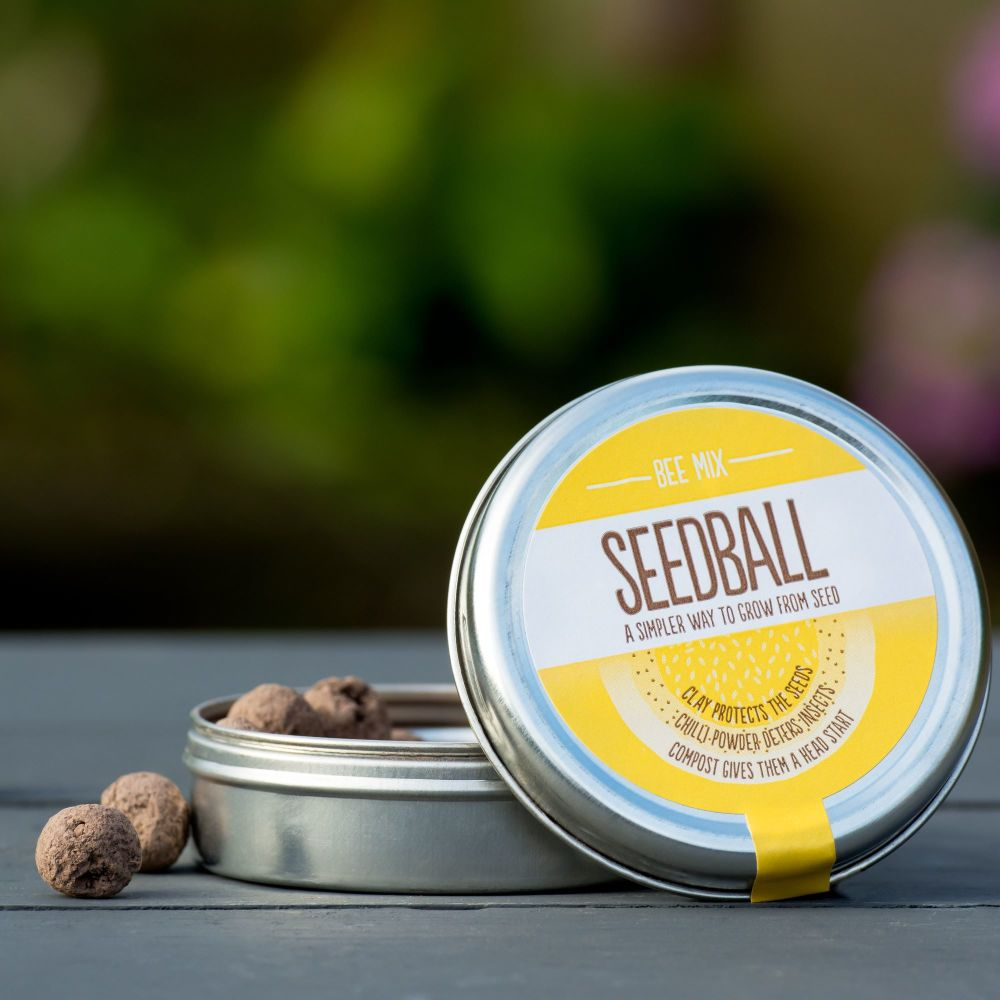 SEEDBALL Tin (open)_Bee Mix