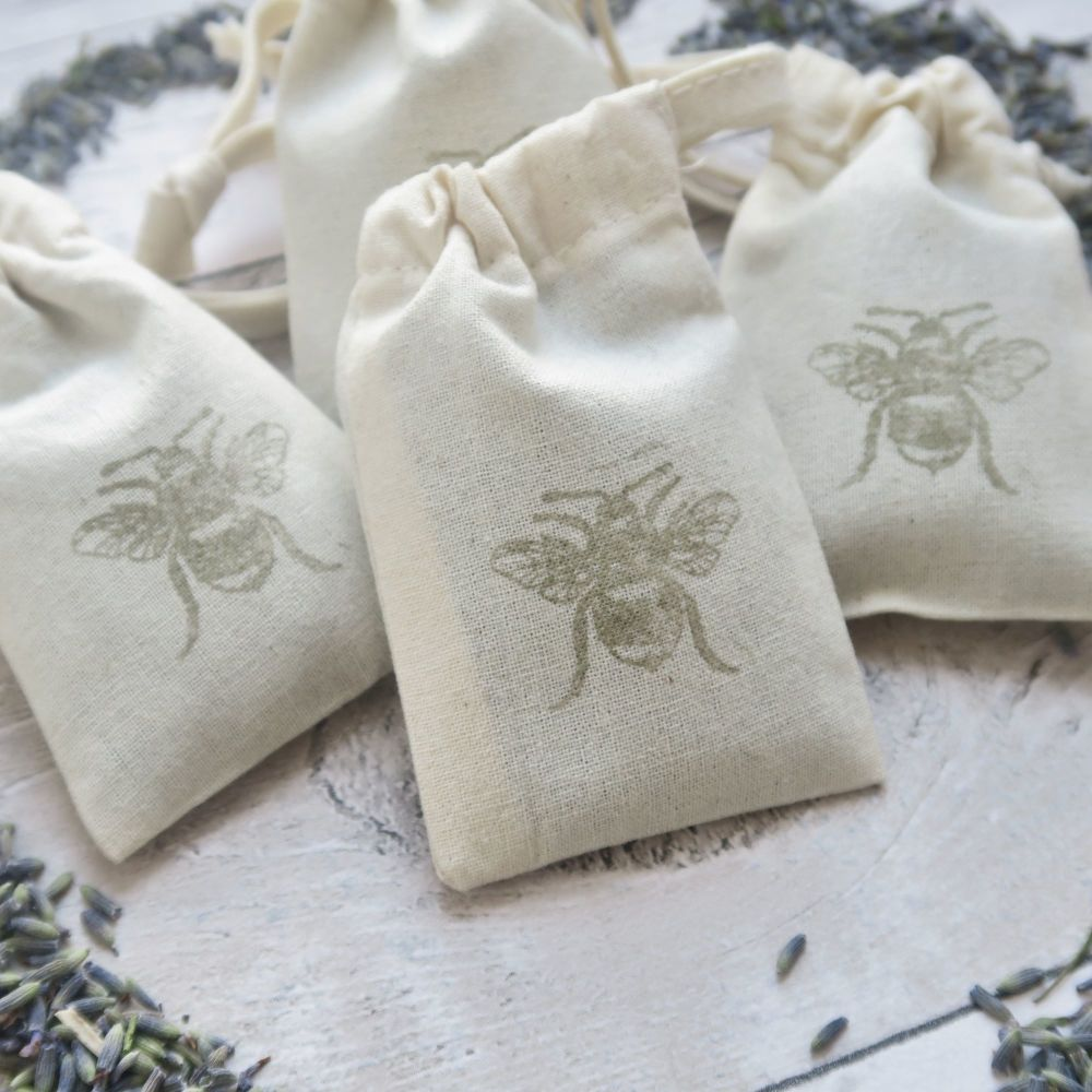 Lavender Bumble Bee Bags