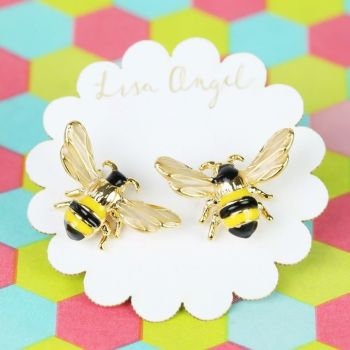 Bumblebee Stud Earrings