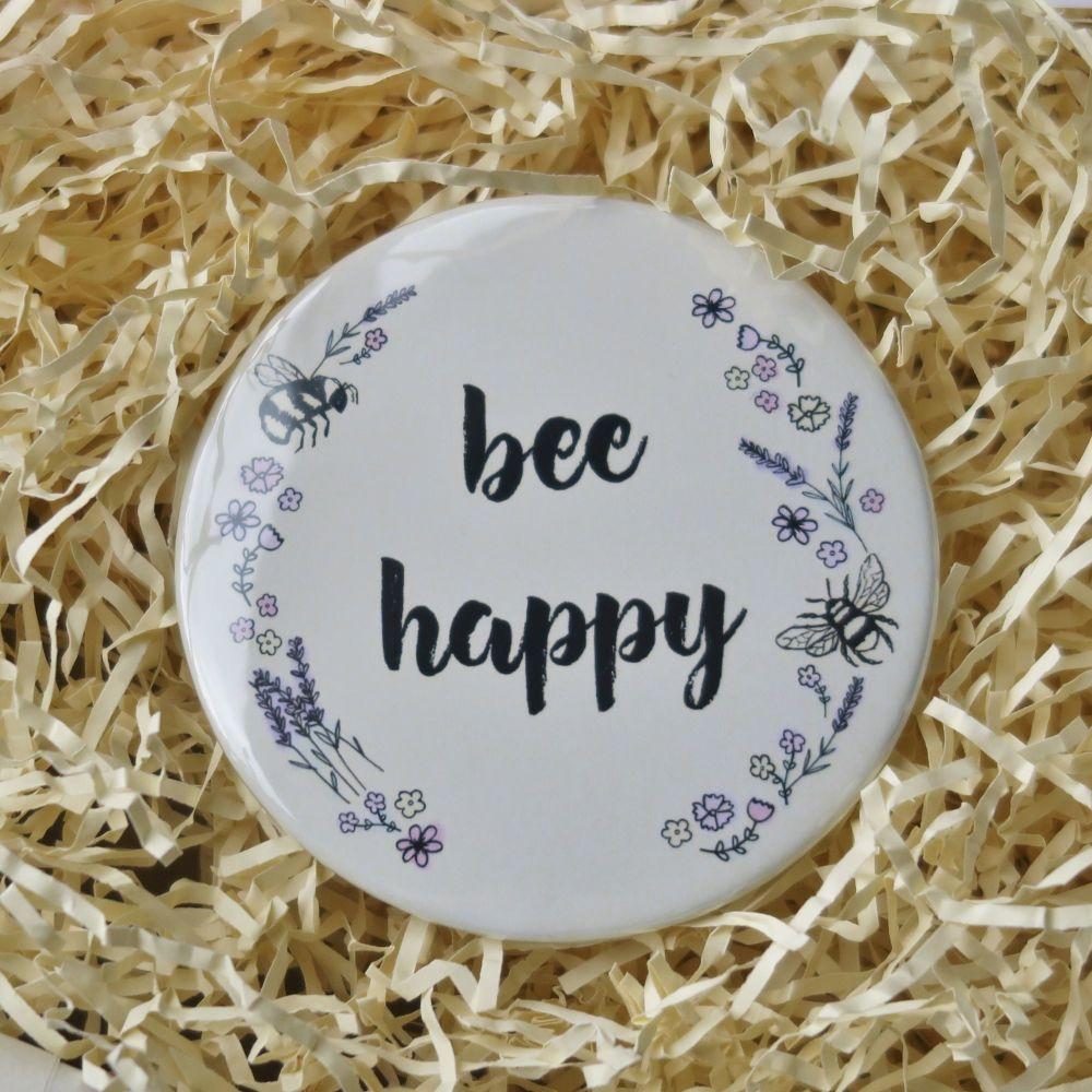 Pocket Mirror - Bee Happy