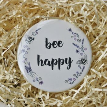 Pocket Mirror - Bee Happy
