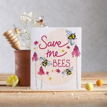 Save the Bees Wildflower Seed Card