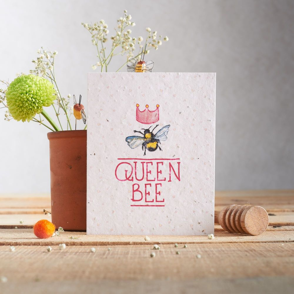 Queen Bee Wildflower Seed Card