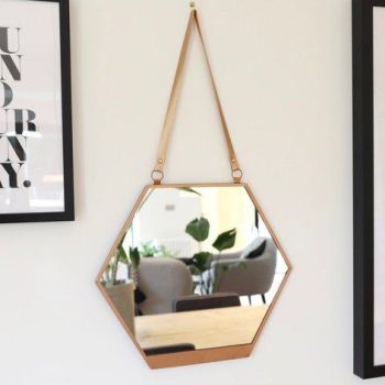 Hexagon Copper Mirror