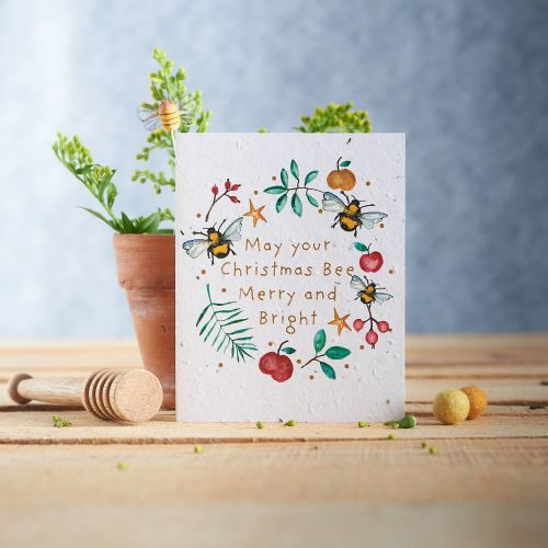 Merry & Bright Christmas Seed Card