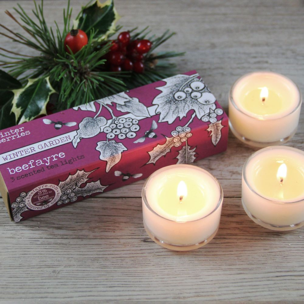 Winter Berries Tea Lights (LS)