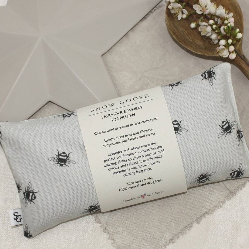 Snow Goose Lavender Wheat Eye Pillow Grey Bee 1