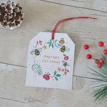 Christmas Bee Gift Tag