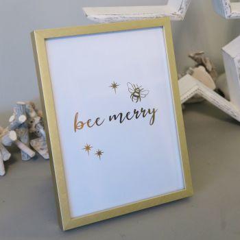 Bee Merry Print