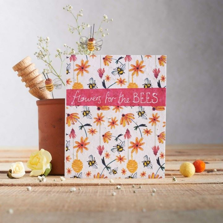 Flowers for the Bees Wildflower Seed Card