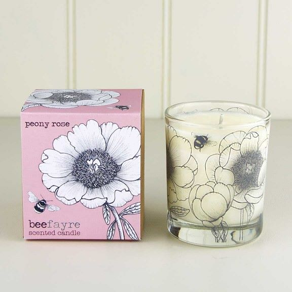 Beefayre Peony Rose Candle