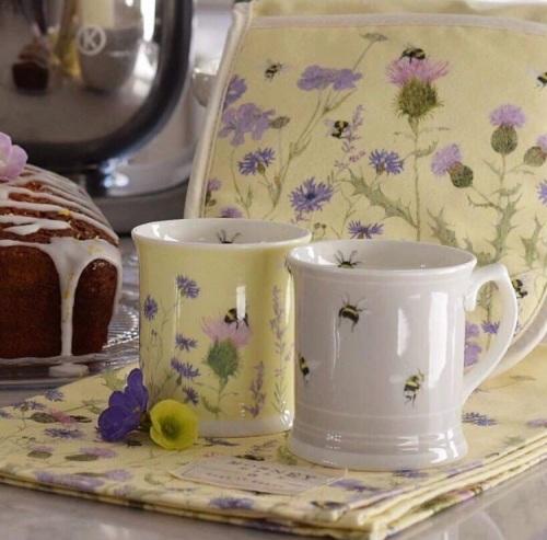 Wildflower & Bee Mug (Yellow)