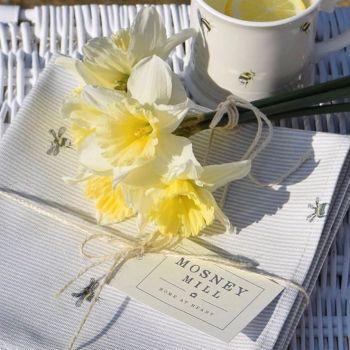 Tea Towel (Grey Stripe Bee)