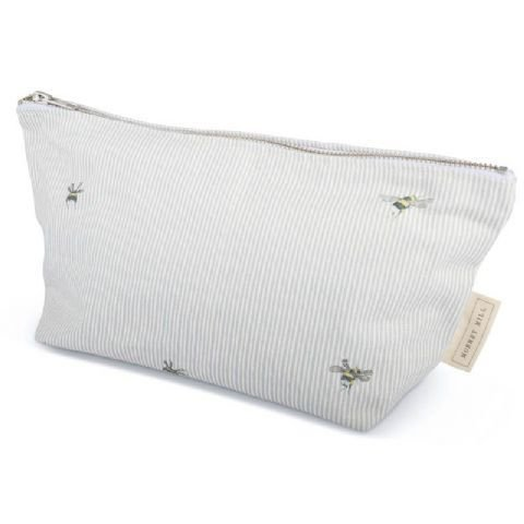Bee Stripe Makeup Bag