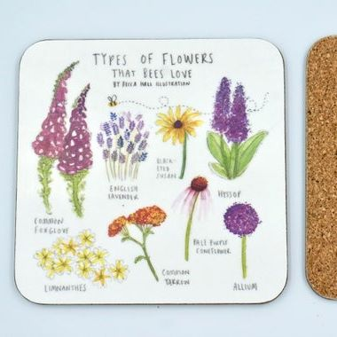 Flowers Bees Love Coaster
