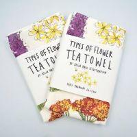 Flowers Bees Love Tea Towel
