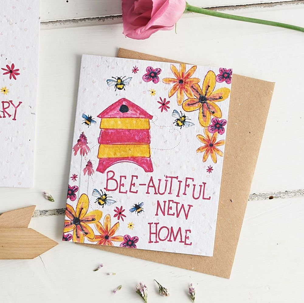 Bee-autiful New Home Wildflower Seed Card