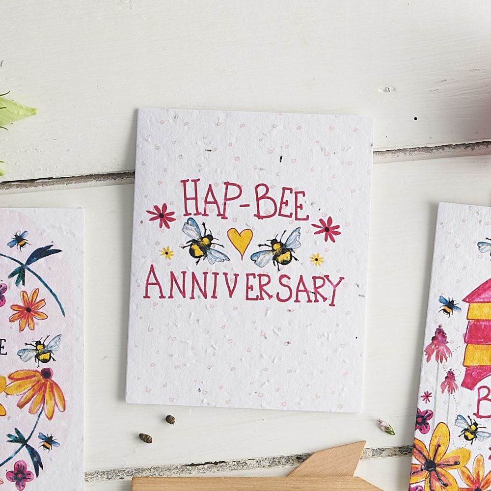 Hap-Bee Anniversary Wildflower Seed Card