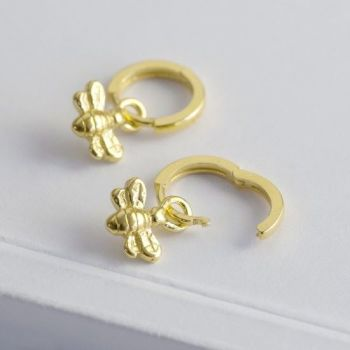 Bee Huggie Earrings