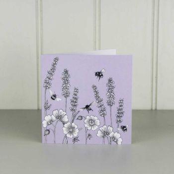 Beefayre Lavender & Geranium Card