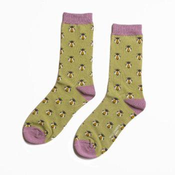 Bee Socks - Olive Green
