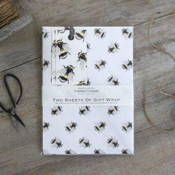 Bumblebee Gift Wrap Set