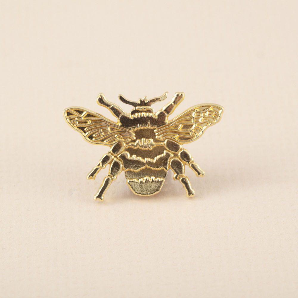Gold Bumblebee Brooch