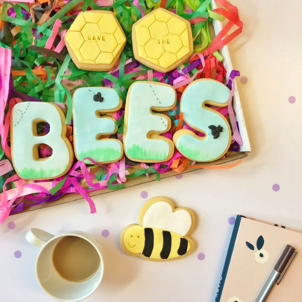 Save the Bees Cookie Box