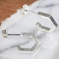 Hexagonal Hoop Earrings
