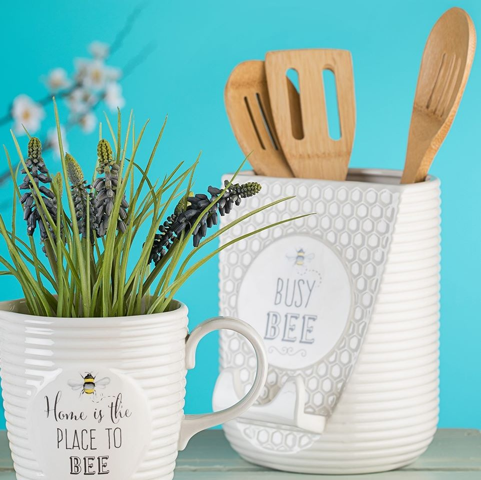 Busy Bee Utensil Pot & Book Stand