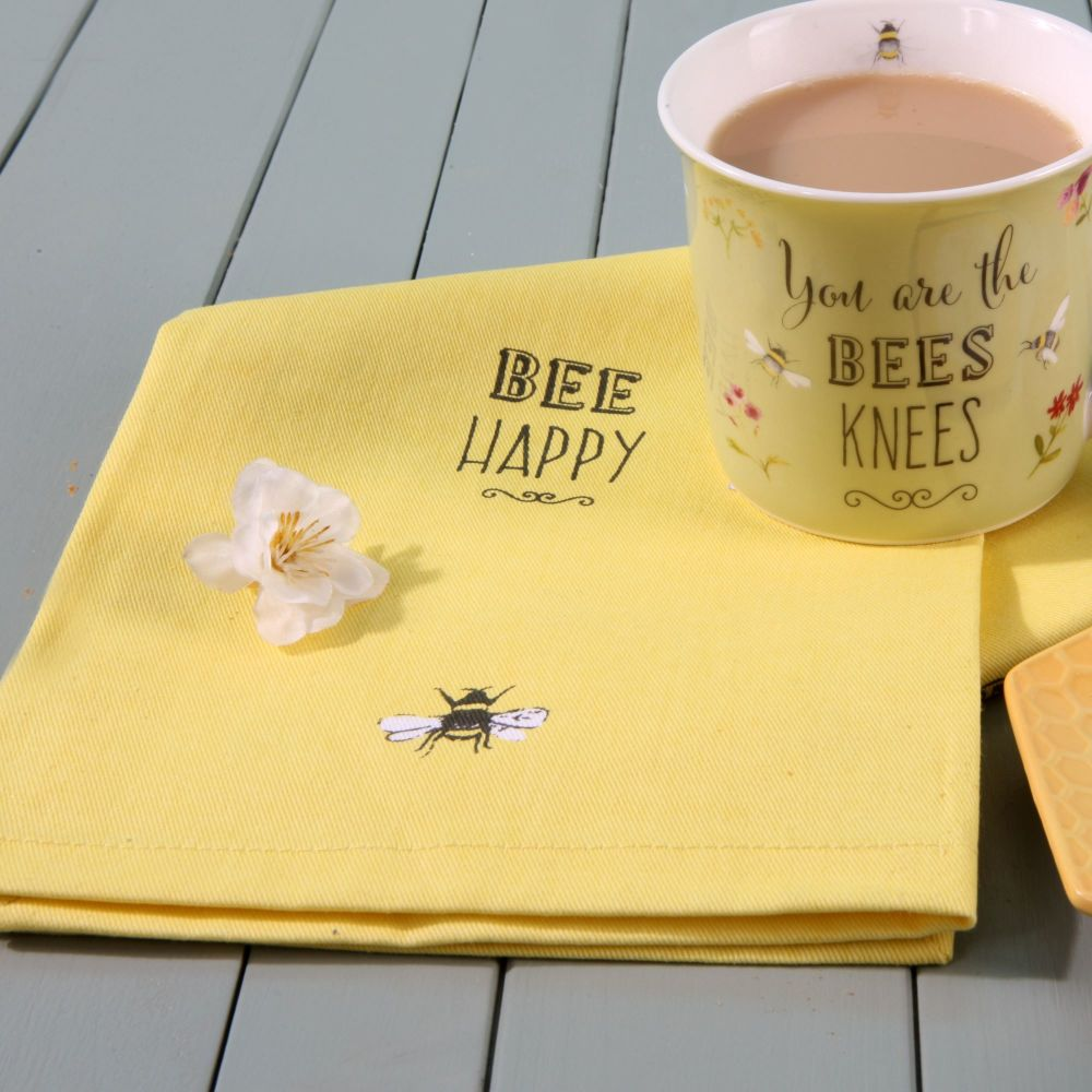 Bee Happy Tea Towels