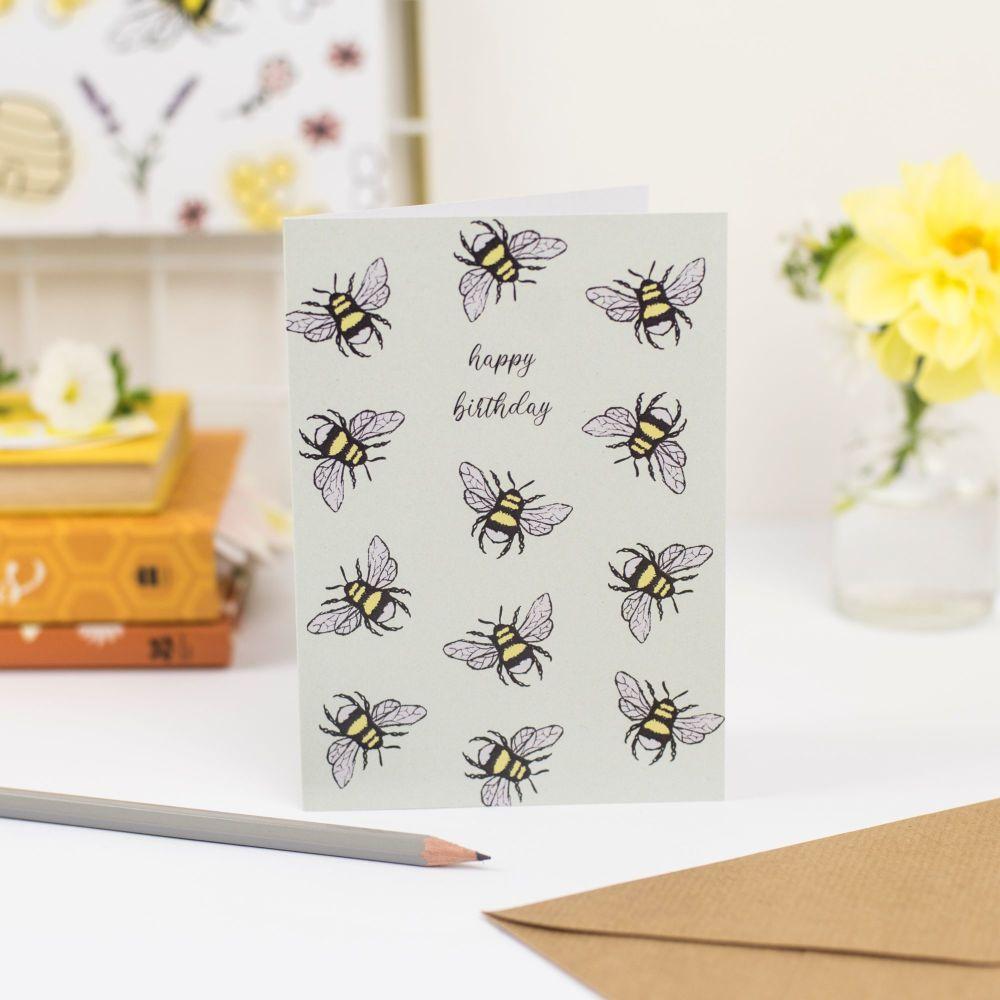 Buzzing Bees Birthday Card