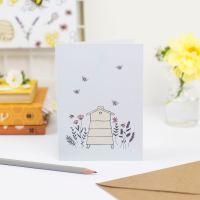 Floral Beehive Greetings Card