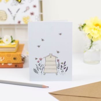 Floral Beehive Greetings Card