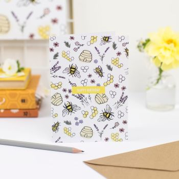 Honey & Bumble Birthday Card