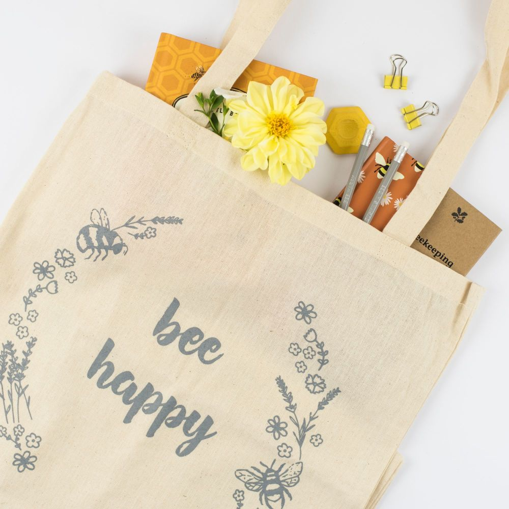 Bee Happy Tote Bag