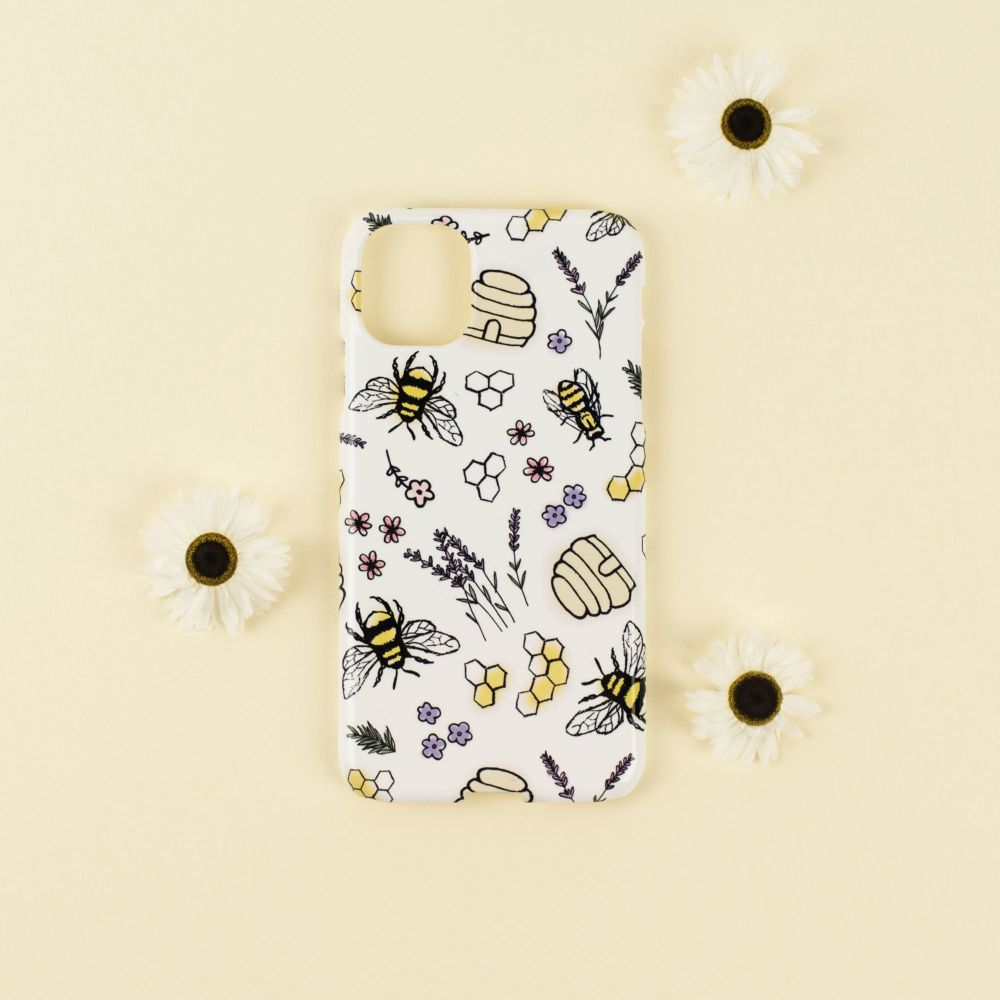Bee Print Phone Case