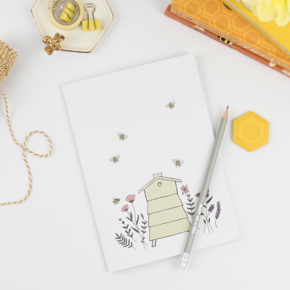 Floral Beehive Notebook