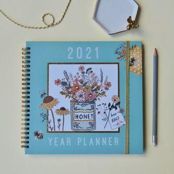 2021 Beekeeper Year Planner Diary