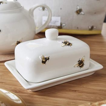 Bumble Bees Butter Dish