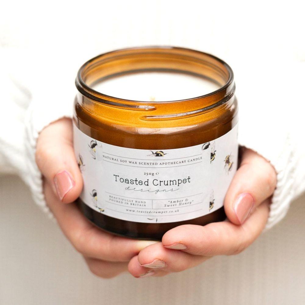 Amber & Sweet Honey Candle