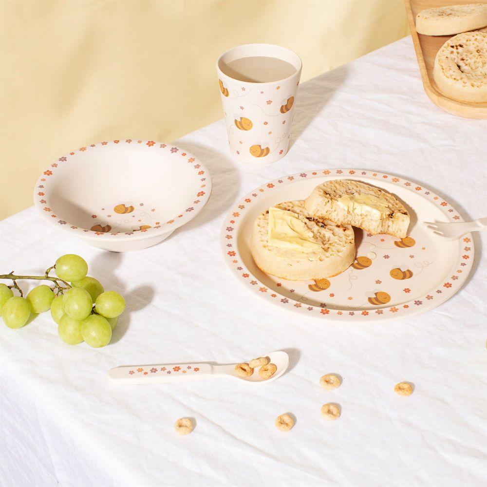 Bee Bamboo Tableware Set