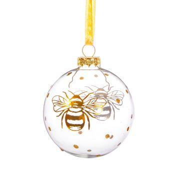 Gold Bee Bauble