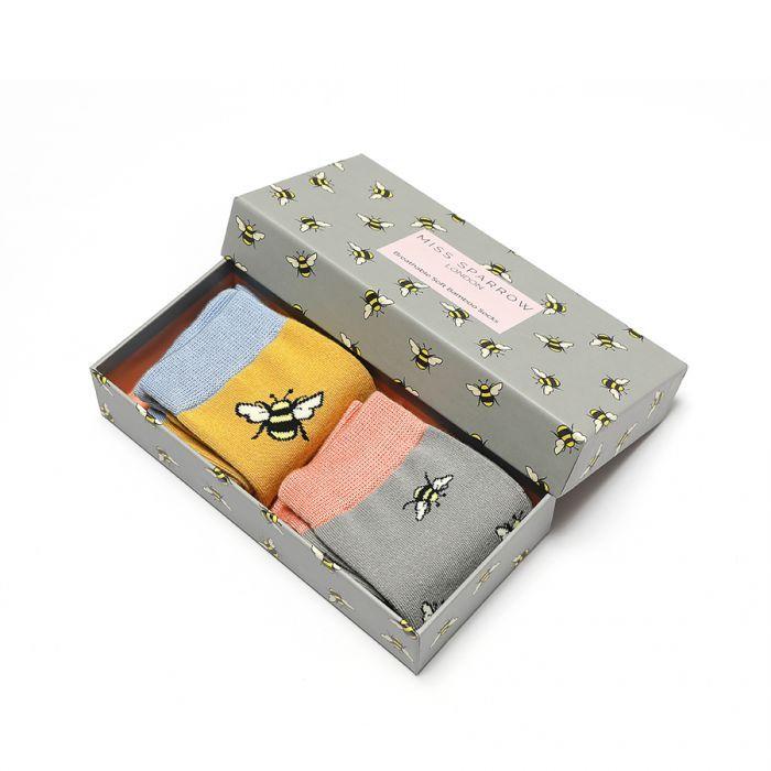 Bee Socks Gift Box (Scattered)
